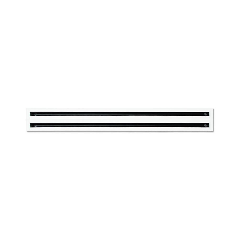 Diffusore Lineare a 2 Feritoie in Alluminio verniciato bianco L.800 11174040