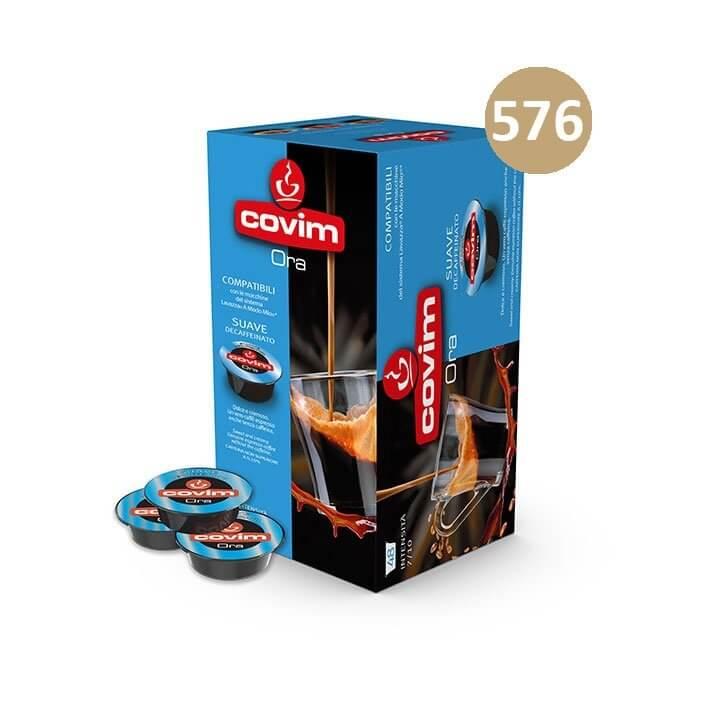 576 (12×48) CAPSULE CAFFE' ESPRESSO ORA SUAVE DECAFFEINATO COVIM – compatibile Lavazza a Modo Mio