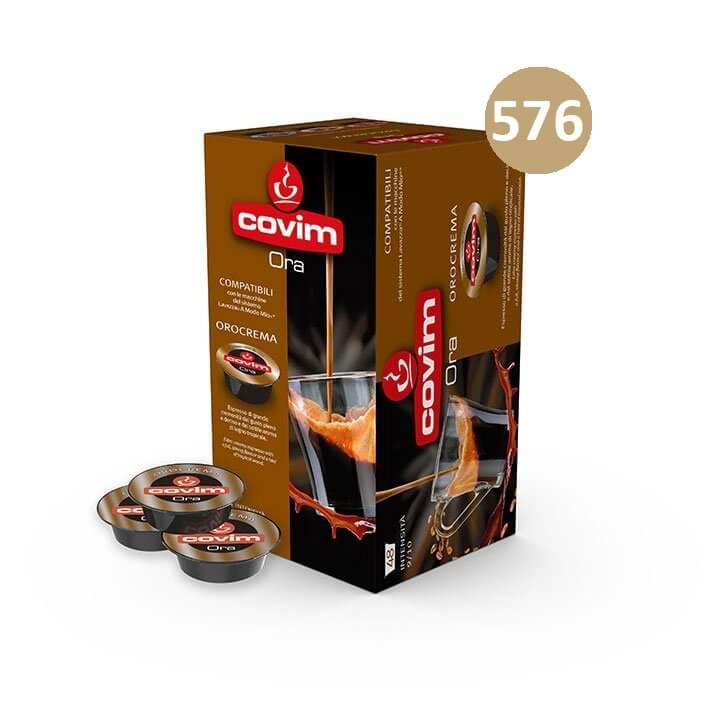 576 (12×48) CAPSULE CAFFE' ESPRESSO ORA OROCREMA COVIM – compatibile Lavazza a Modo Mio