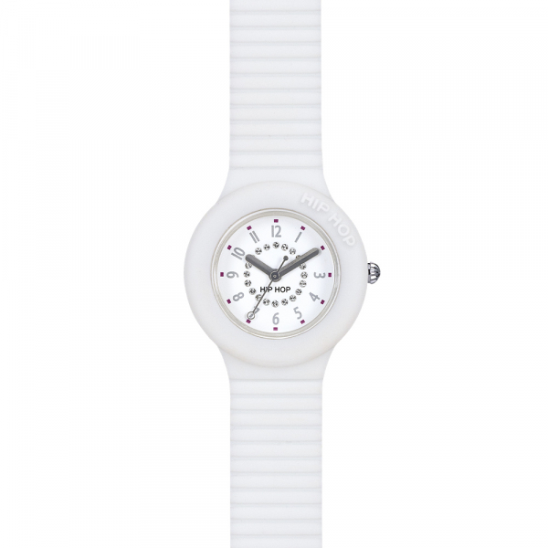 OROLOGIO SILICONE DONNA – BIANCO – NUMBERS COLLECTION – HWU0637 | Hip Hop Watches