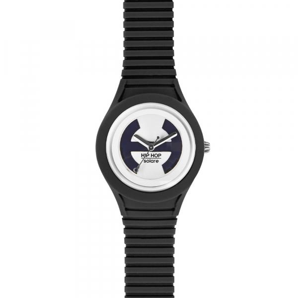 OROLOGIO SILICONE DONNA – NERO – SOLARE – HWU0529 | Hip Hop Watches