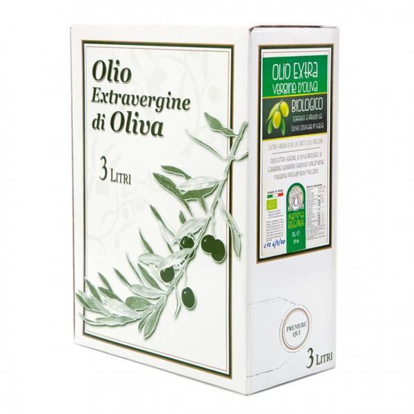 OLIO EXTRA VERGINE di OLIVA BIOLOGICO BAG in BOX 3Lt