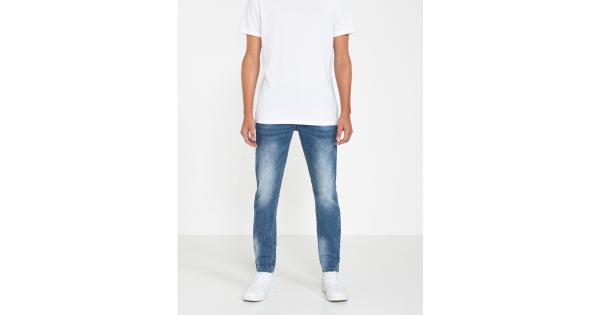 Jeans stretch effetto slavato