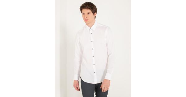 Camicia in cotone armaturato