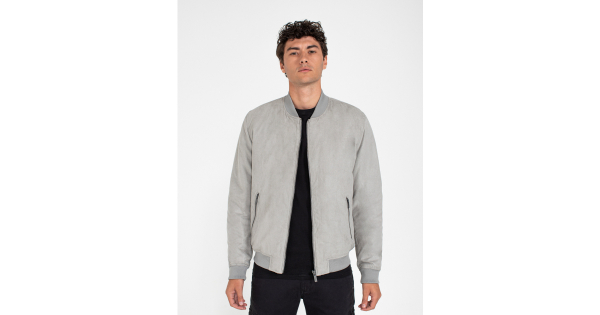 Suede effect bomber
