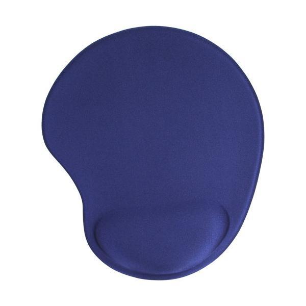 InLine Mouse Pad, tappetino ideale per mouse laser e ottici, poggia polso in gel, 230x205x20mm, blu