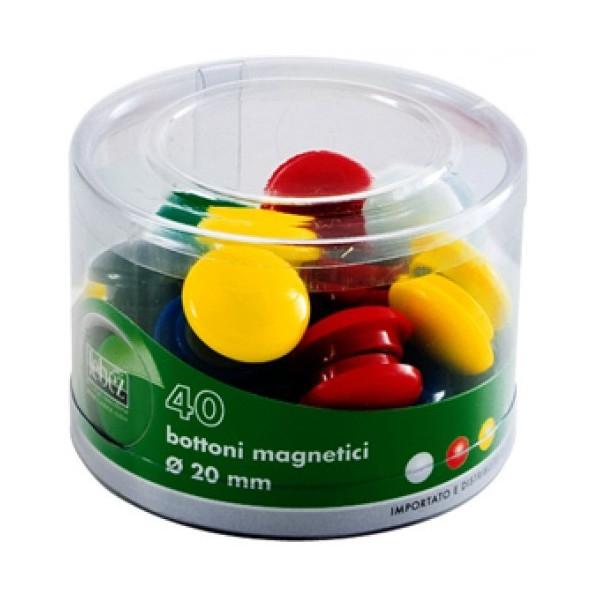 Barattolo 40 Bottoni Magnetici 20 mm