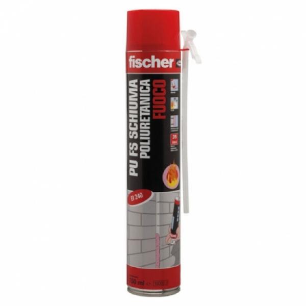 Schiuma Poliuretanica Monocomponente per Applicazioni Antifuoco Fischer PU FS 750 ml