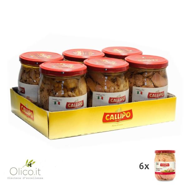 Trancetti di Tonno Callipo all'olio di oliva 550 gr x 6