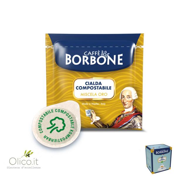 100 Cialde ESE 44 mm Caffè Borbone miscela ORO