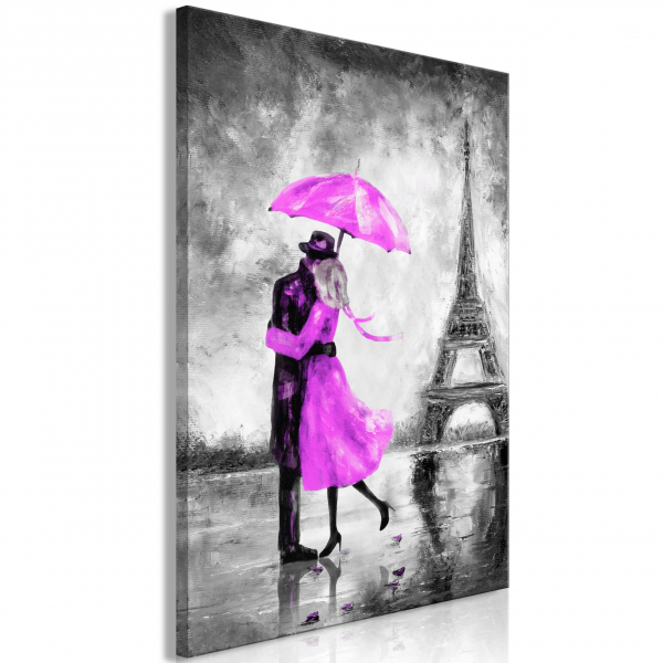 Quadro – Paris Fog (1 Part) Vertical Pink