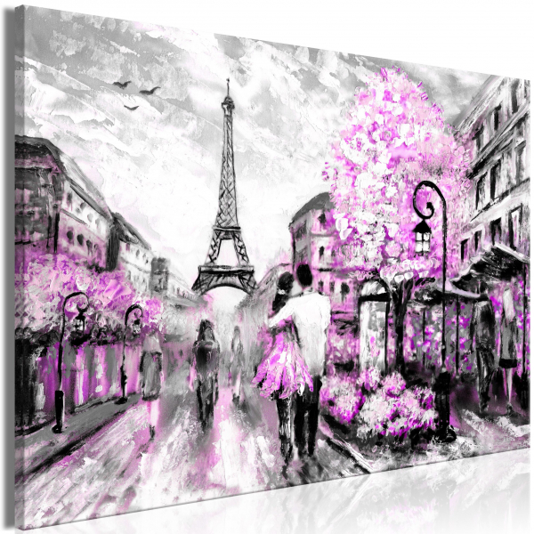 Quadro – Colourful Rendez-Vous (1 Part) Wide Pink