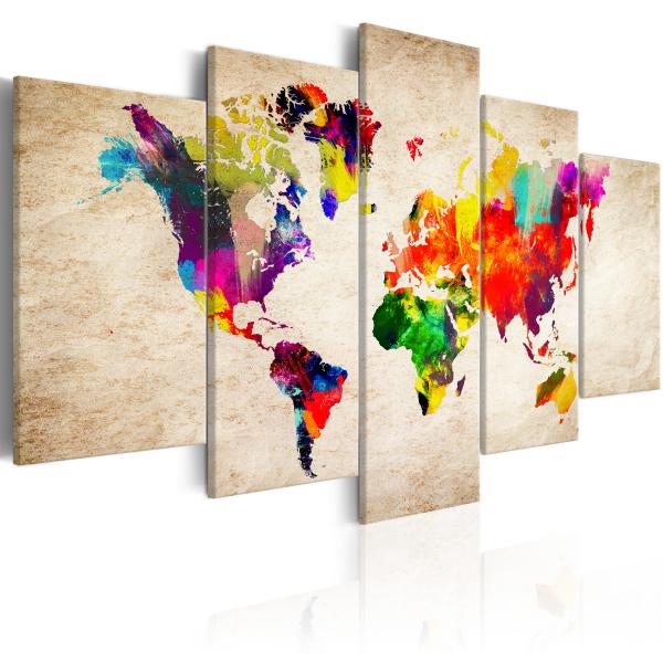 Quadro – World Map: Abstract Fantasy