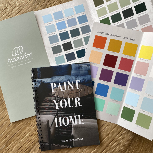 Cartella colori STAMPATA Autentico Paint + Fascicolo Istruzioni PAINT YOUR HOME