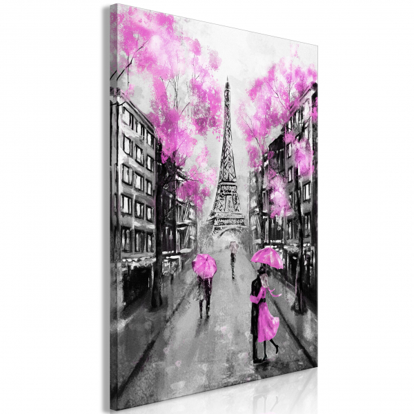 Quadro – Paris Rendez-Vous (1 Part) Vertical Pink