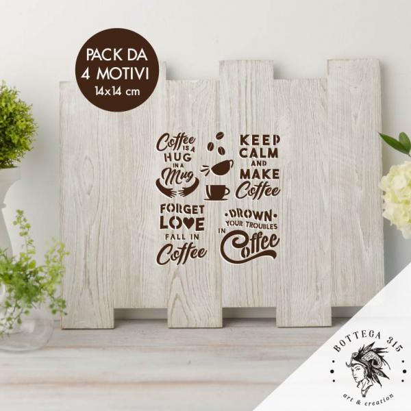 """Stencil Riutilizzabile """"MAKE COFFEE"""" Bottega 315 Collection"""