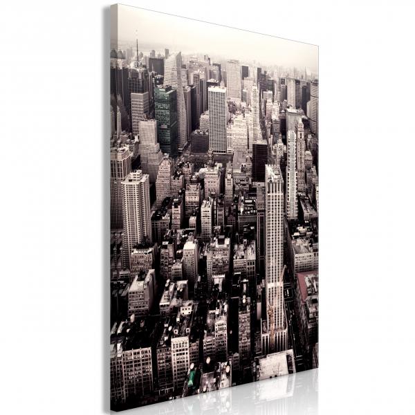 Quadro – Manhattan In Sepia (1 Part) Vertical