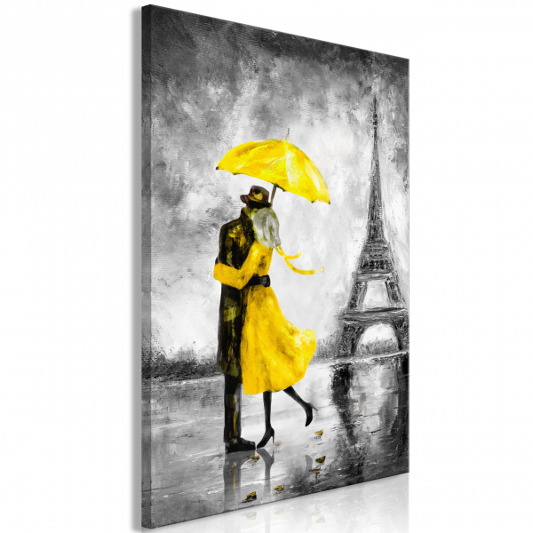 Quadro – Paris Fog (1 Part) Vertical Yellow