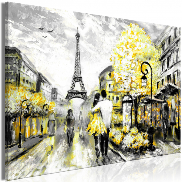 Quadro – Colourful Rendez-Vous (1 Part) Wide Yellow