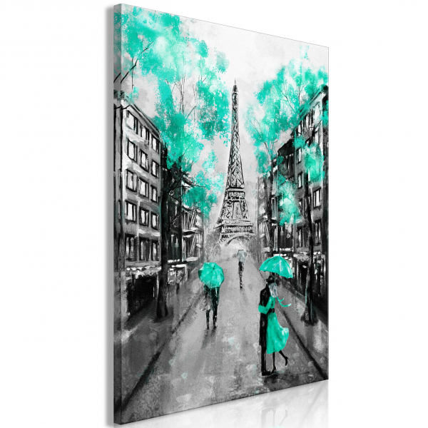 Quadro – Paris Rendez-Vous (1 Part) Vertical Green