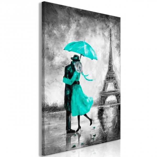 Quadro – Paris Fog (1 Part) Vertical Green