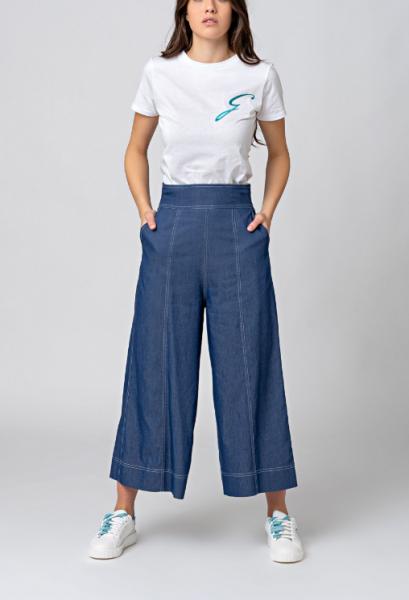 GATTINONI Pantalone palazzo in denim