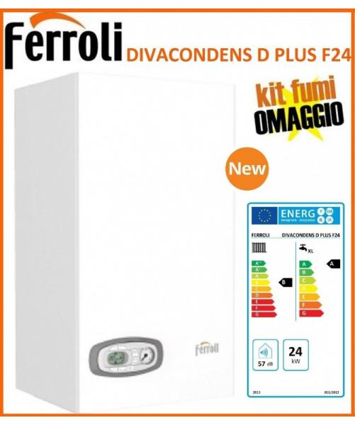 Caldaia a Condensazione Ferroli Divacondens D Plus F 24 Kw Low Nox Completa di Kit Scarico Fumi