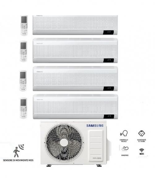 Condizionatore Climatizzatore Samsung Quadri Split Inverter Windfree Elite R-32 Wi-Fi 9000+9000+9000+12000 BTU Con AJ080TXJ4KG