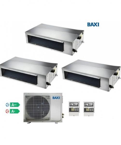 Condizionatore Climatizzatore Baxi Trial Split Inverter Canalizzato R-32 9000+12000+12000 BTU Con LSGT70-3M Wi-Fi Optional
