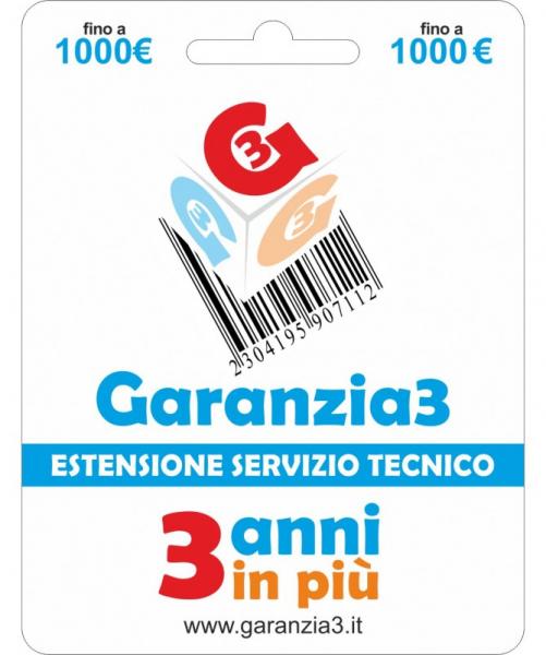 Garanzia 3 – Estensione Del Servizio Tecnico Fino A 1000,00 Euro