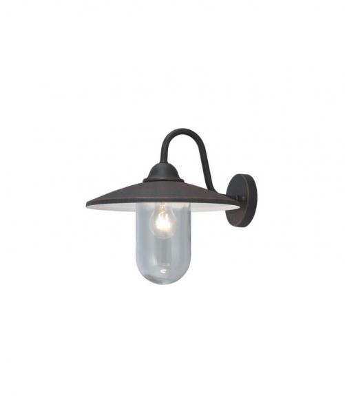 Lanterna Modello Portofino W.60 C/Braccio Anticata Con Corpo in Alluminio Pressofuso Verniciato