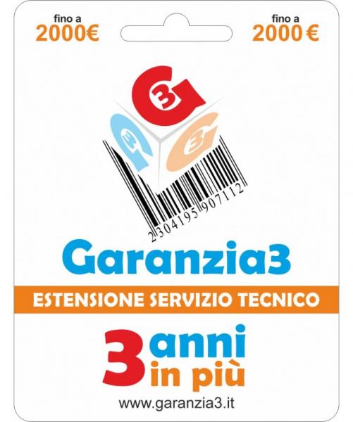 Garanzia 3 – Estensione Del Servizio Tecnico Fino A 2000,00 Euro