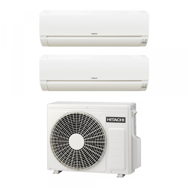 Climatizzatore Hitachi Dodai FrostWash dual split 7000+12000 btu inverter in R32 RAM-40NE2F in A++