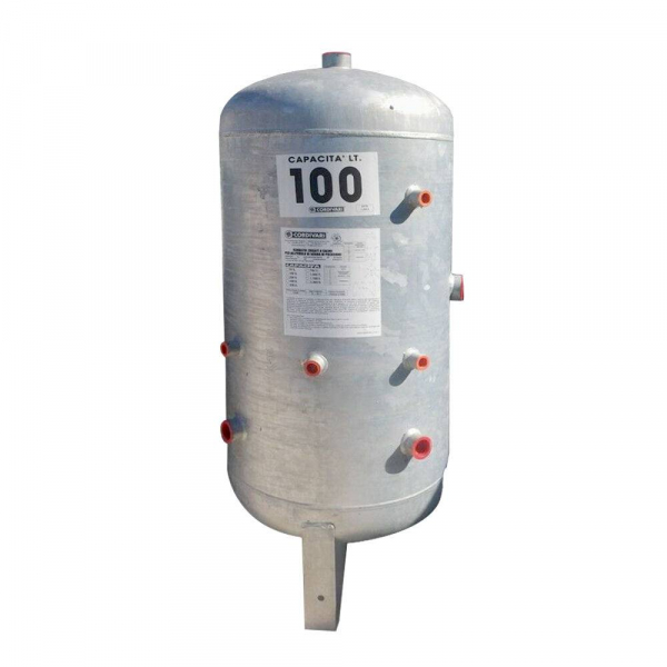 Serbatoio coridivari zincato per accumulo di acqua in pressione