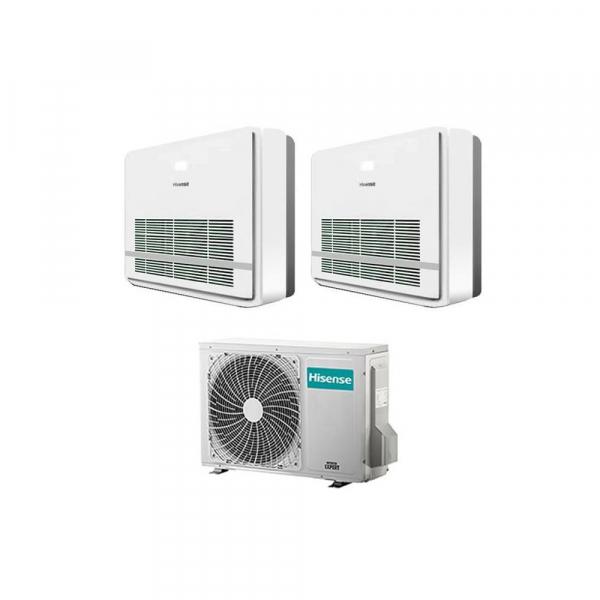Condizionatore con inverter dual split Console Hisense AKT 12000+12000 Btu R32 in A++ 3AMW72U4RFA