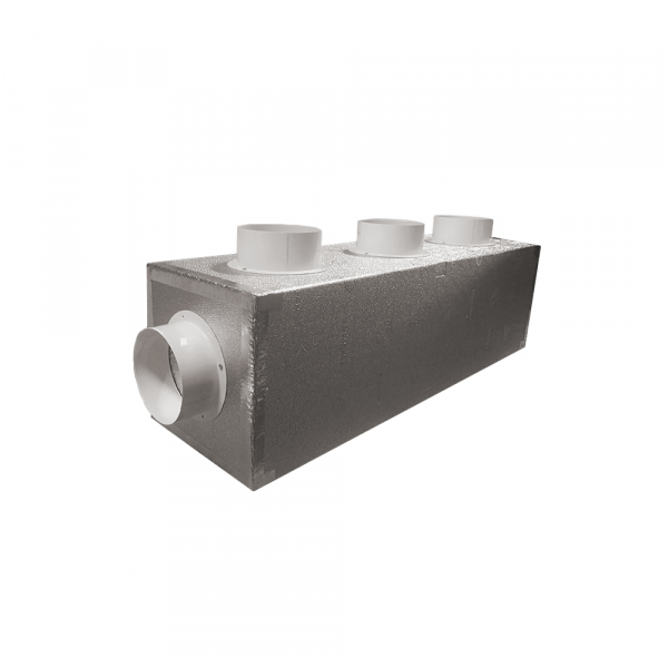 Plenum in Poliuretano Espanso a 4 uscite di diametro 150 mm