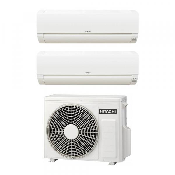 Climatizzatore Hitachi Dodai FrostWash dual split 12000+12000 btu inverter in R32 RAM-53NE2F A++ sconto in fattura 65%