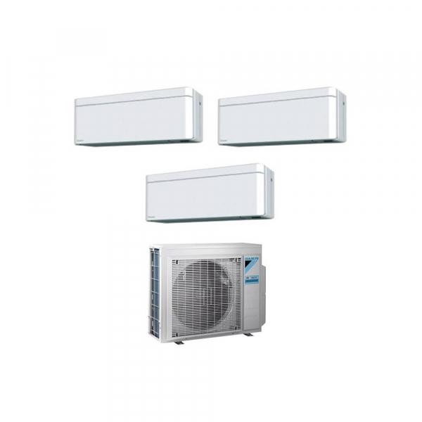 Climatizzatore trial split con inverter 9000+9000+9000 DaikinStylish White WiFi R32in A+++ 3MXM40N sconto in fattura 65%