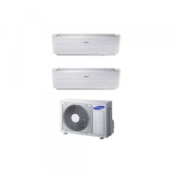Condizionatore dual split con inverter 7000+7000 Samsung Windfree Light Wifi in R32 A++ AJ040NCJ2EG
