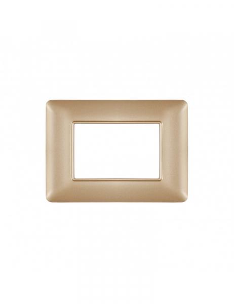 Placca 3 Moduli 3M oro opaco compatibile BTICINO MATIX in