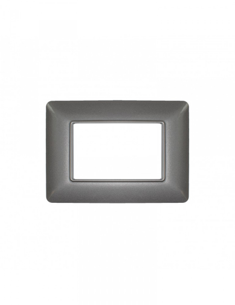 Placca 3 Moduli 3M grigio scuro compatibile BTICINO MATIX