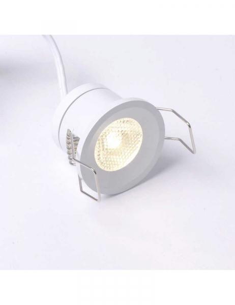 Spot Encastrable LED 1W 12V Blanc Naturel 4000K 130 LM IP20 Boîtier en