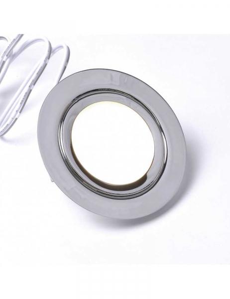 Spot Encastrable LED 3W 12V Blanc Naturel 4000K 240 LM en Aluminium Chromé IP52
