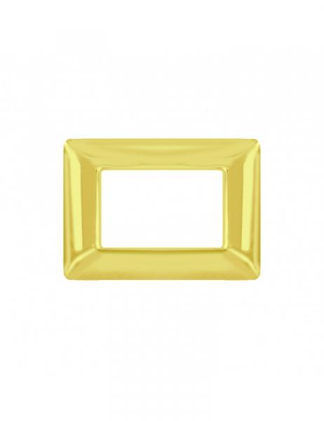 Placca 3 Moduli 3M oro lucido compatibile BTICINO MATIX in