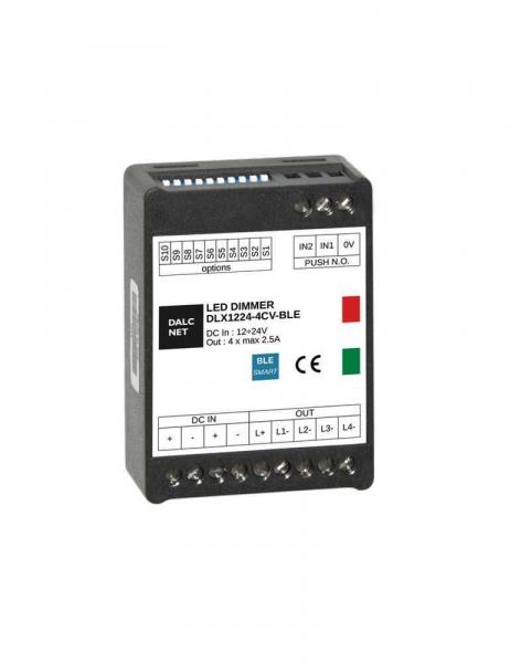 DALCNET DLX1224-4CV-BLE Controller e Dimmer Bluetooth Push