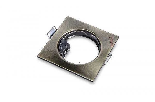 Portafaretto da Incasso Quadrato Fisso Foro 60mm Bronzo – ALOR fr