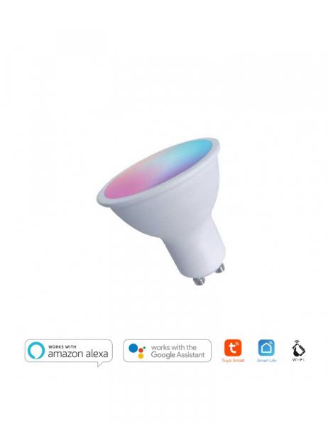 Faretto Led GU10 4W 300lm RGB+CCT – Smart WiFi compatibile