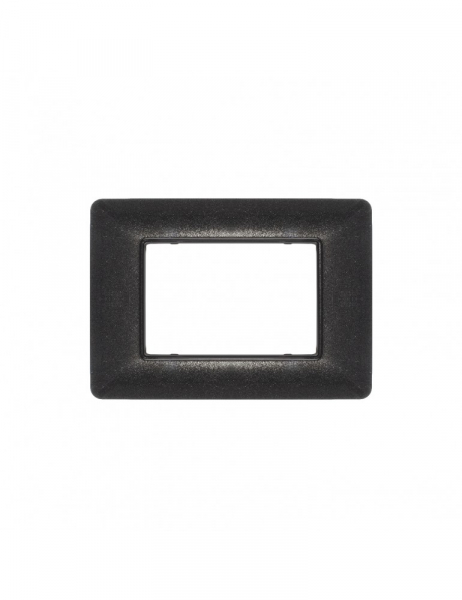 Placca 3 Moduli 3M Nero Flash compatibile BTICINO MATIX in