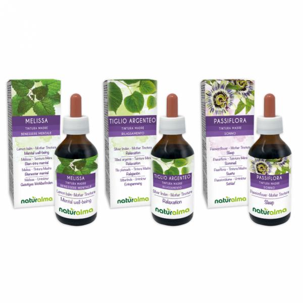 Routine Rilassamento Bambini (Melissa + Tiglio argenteo + Passiflora) 3 x 200 ml – Naturalma AP5-Pack 180-defaultCombination