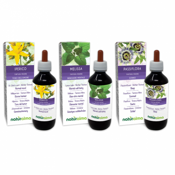 Routine Rilassamento (Iperico + Melissa + Passiflora) 3 x 200 ml – Naturalma AP5-Pack 176-defaultCombination